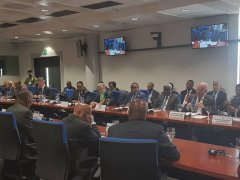 The Chairperson of the Joint Monitoring and Evaluation Commission H.E. Festus Mogae  attended a consultative meeting and briefed  leaders from IGAD, United Nations and African Union leaders in the Ethiopian capital, Addis Ababa on Saturday Jan 27, 2017.